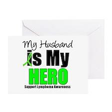 Lymphoma Hero (Husband) Greeting Cards (Pk of 10)