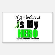 Lymphoma Hero (Husband) Rectangle Sticker 10 pk)