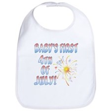 BABY'S FIRST 4th OF JULY! Bib