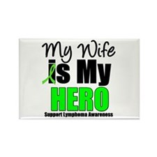 Lymphoma Hero Wife Rectangle Magnet