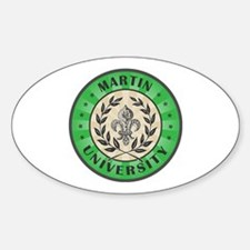 Martin Last Name University Kelly Green Decal