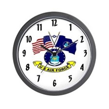 USAF-Flags Wall Clock
