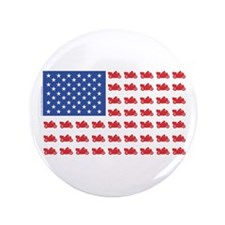 "Cruiser Motorcycle Patriotic Flag 3.5"" Button"