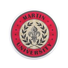 "Martin University Red 3.5"" Button"