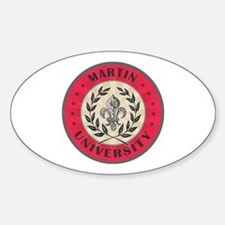 Martin University Red Oval Decal