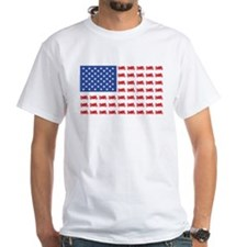 Sportbike Motorcycle Patriotic Flag Shirt