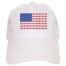 Sportbike Motorcycle Patriotic Flag Baseball Cap