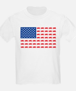 Sportbike Motorcycle Patriotic Flag T-Shirt