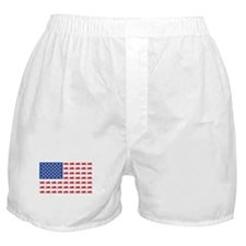 Sportbike Motorcycle Patriotic Flag Boxer Shorts