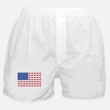 Sportbike Motorcycle Patriotic Flag Boxer Shorts