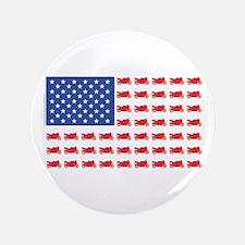 "Sportbike Motorcycle Patriotic Flag 3.5"" Button"