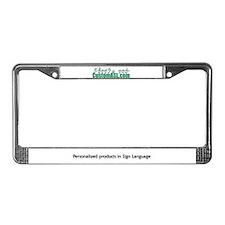SAMPLE Item License Plate Frame