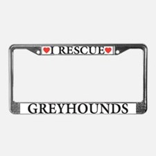Greyhound Rescue License Plate Frame