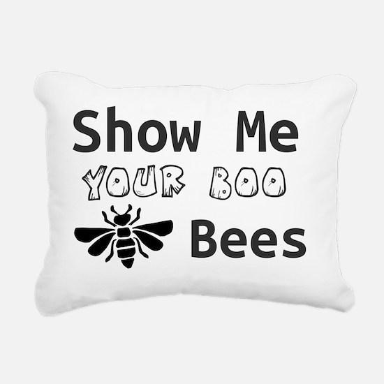 Cute Boo bees Rectangular Canvas Pillow