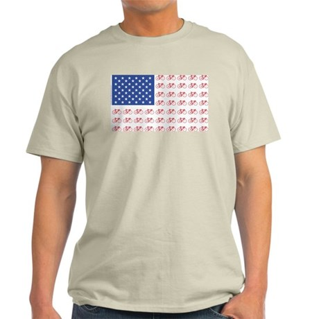 Bicycle Patriotic Flag Light T-Shirt