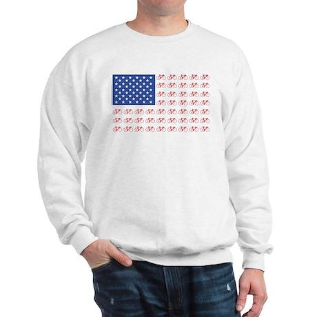 Bicycle Patriotic Flag Sweatshirt