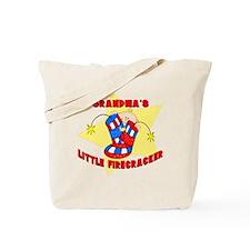 Grandma's Firecracker July 4t Tote Bag
