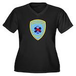 Sutter Creek Fire Women's Plus Size V-Neck Dark T-