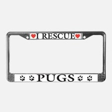 Pug Rescue License Plate Frame