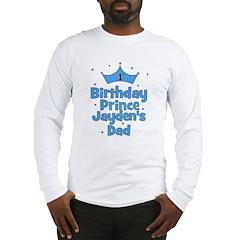 1st Birthday Prince Jayden's Long Sleeve T-Shirt
