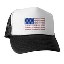 American Flag made of Motorcycles Trucker Hat