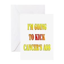 Kick Cancer's Ass Greeting Card