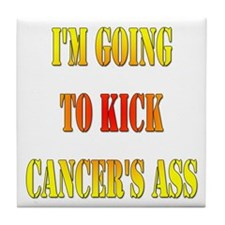 Kick Cancer's Ass Tile Coaster