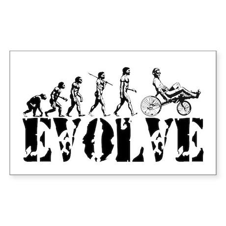 Recumbent Bicycle Rectangle Sticker