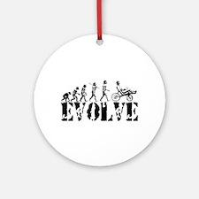 Recumbent Bicycle Ornament (Round)