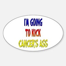 Kick Cancer's Ass ver3 Oval Decal