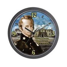 William Travis Alamo Wall Clock