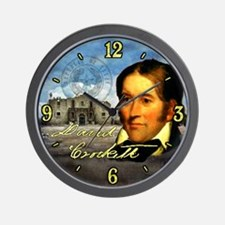 Davy Crockett Alamo Wall Clock