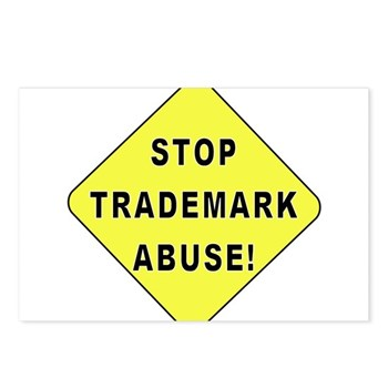 Stop Trademark Abuse! Postcards (Package of 8)