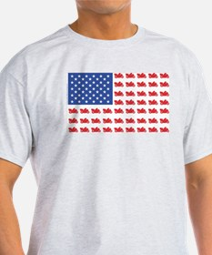 Cruiser Motorcycle Patriotic Flag T-Shirt
