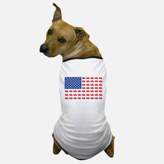 Cruiser Motorcycle Patriotic Flag Dog T-Shirt