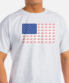 Bicycle Patriotic Flag T-Shirt