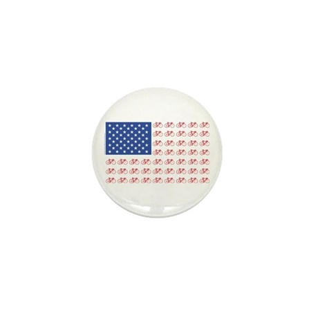 Bicycle Patriotic Flag Mini Button (10 pack)