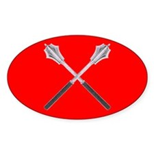Red Company Oval Decal