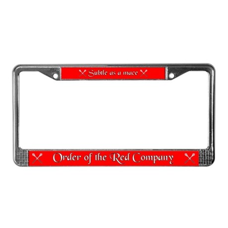 Red Company License Plate Frame