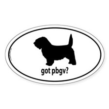 Got PBGV? Oval Stickers