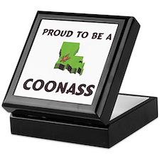 Proud Coonass Cajun Keepsake Box