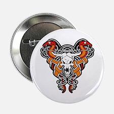 """Bull Biker Emblem 2.25"""" Button"""