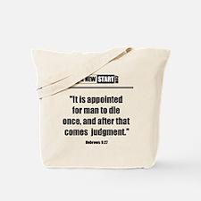 Hebrews 9:27 Tote Bag