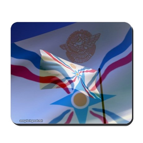 Assyrian Flag Mousepad