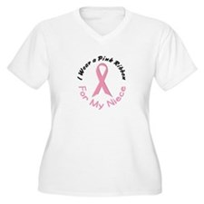 Pink Ribbon For My Niece 4 T-Shirt