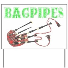Bagpipes Yard Sign