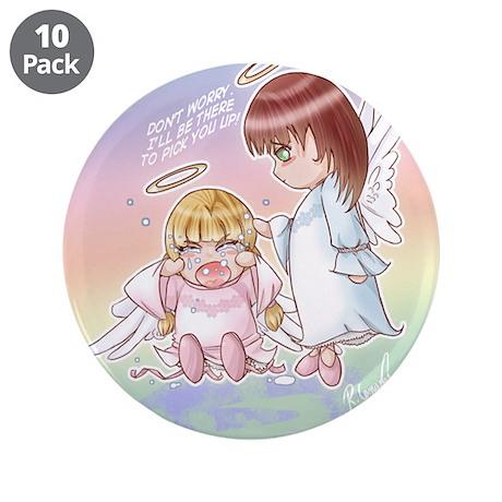 """Precious Chibi Prayers"" 3.5"" Button (10 pack)"