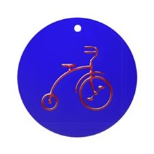 Cute Bicycle christmas Ornament (Round)