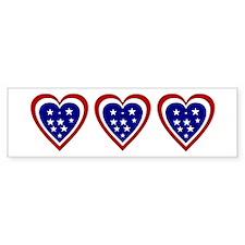 American Hearts Bumper Bumper Sticker