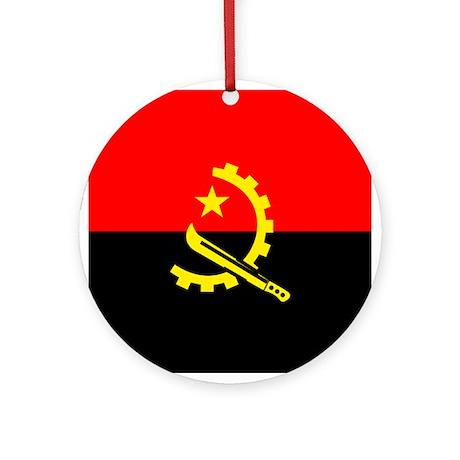 Angolan Flag Ornament (Round)
